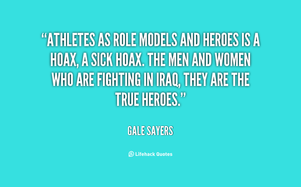 difference between a hero and a role model essay