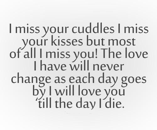 Messages love missing your I Miss