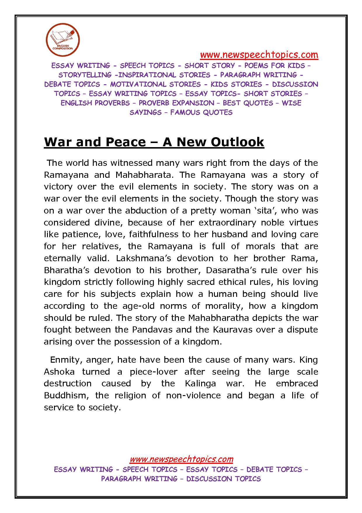 peace essay for kids  an essay on world peace day for kids students and children
