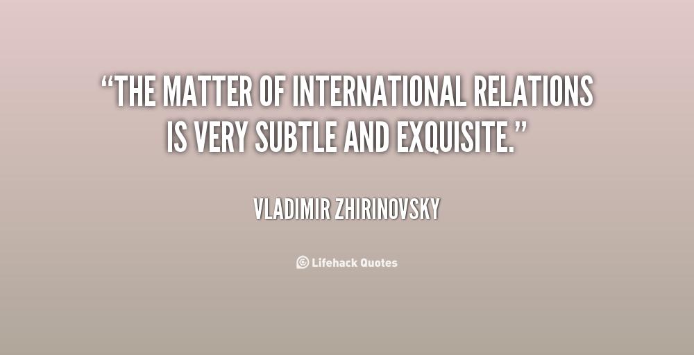 International Relations Quotes. QuotesGram
