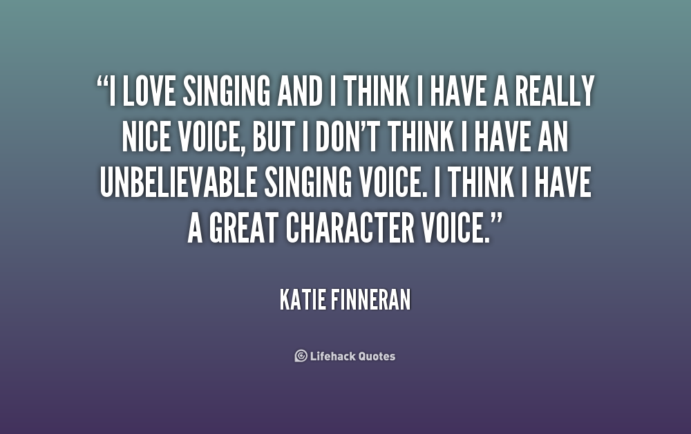 My passion in singing