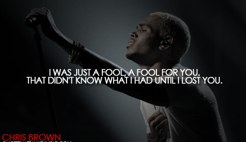 Chris Brown Quotes About Life: Chris Brown Quotes About Trust. QuotesGram