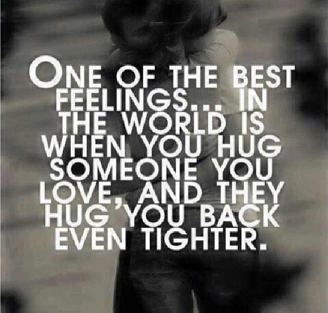 When a man hugs you tight