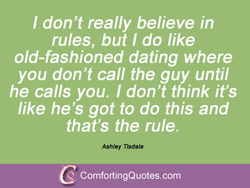 old fashioned rules for dating