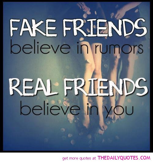 Fake friends or true friends