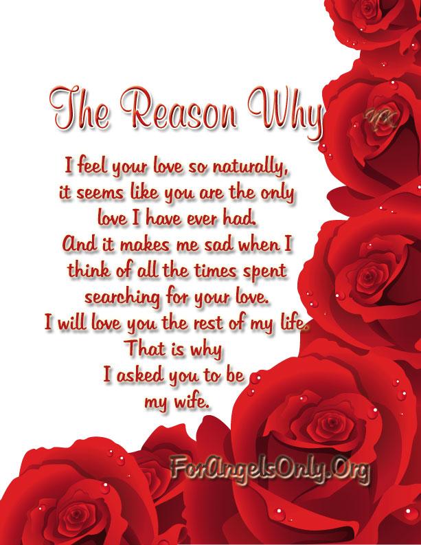 For love him romantic poems short Short Romantic