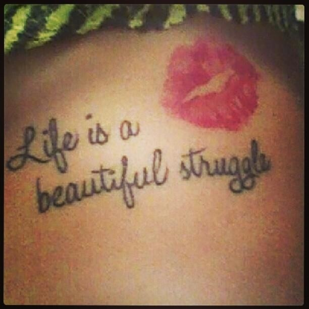 Side Tattoos Quotes On Life. QuotesGram