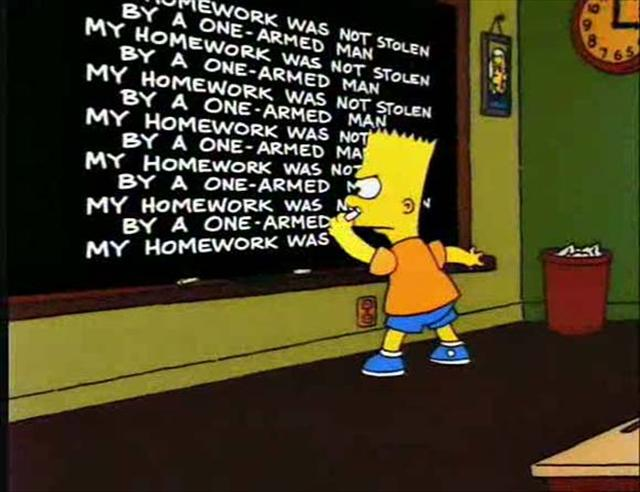 bart simpson quotes about school quotesgram