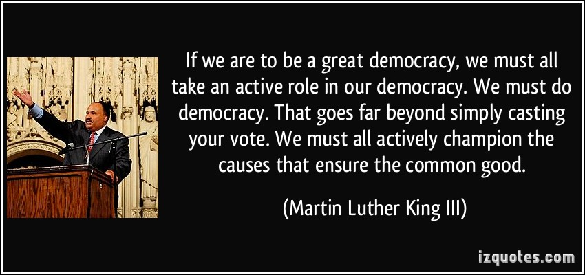 what kind of democracy do we Democracy in the united states the united states is a representative democracy  ★ do important work for the nation (if needed.