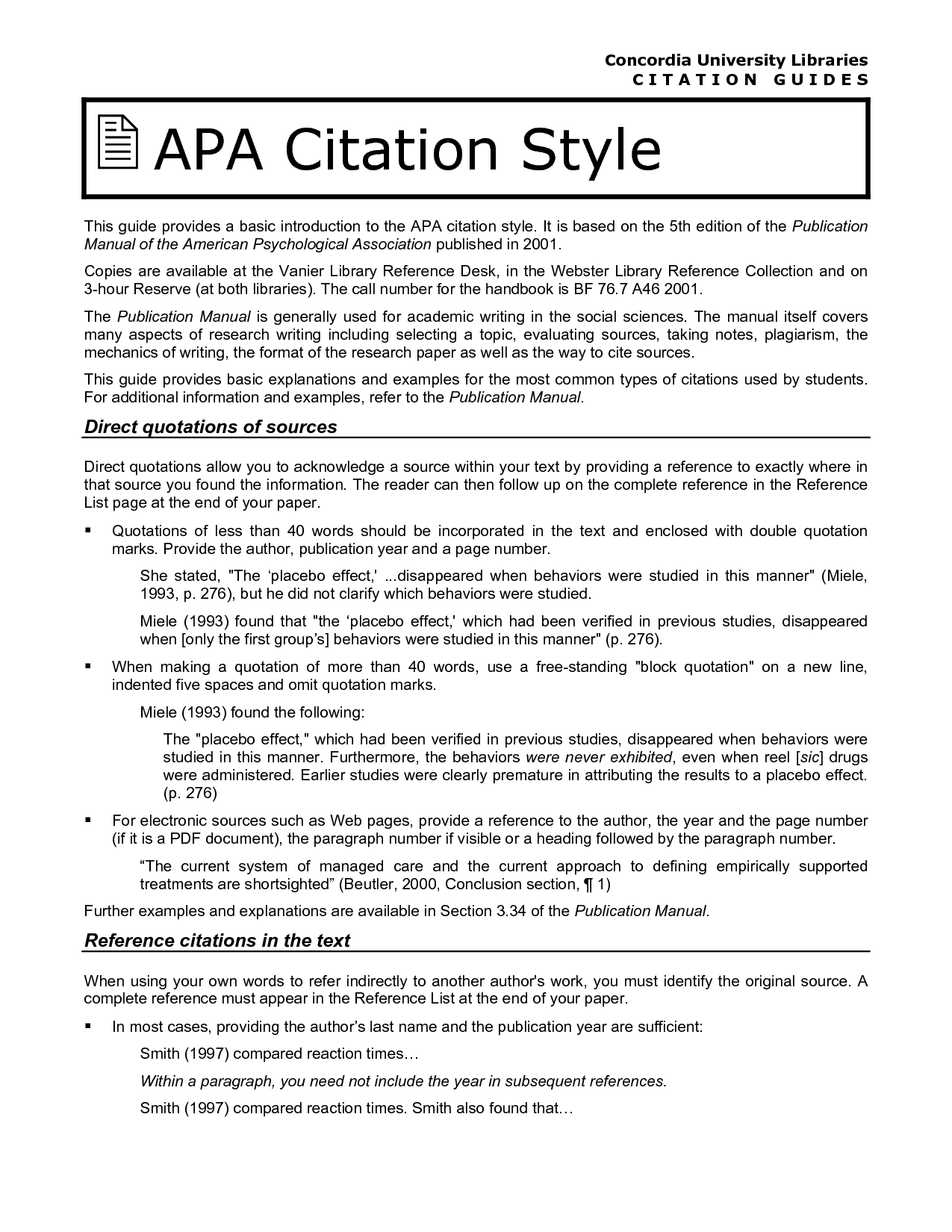 cite sources in apa format
