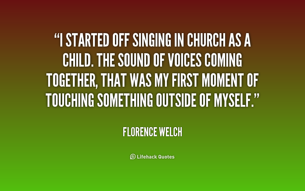 My Kids Come First Quotes: Quotes On Singing In Church. QuotesGram