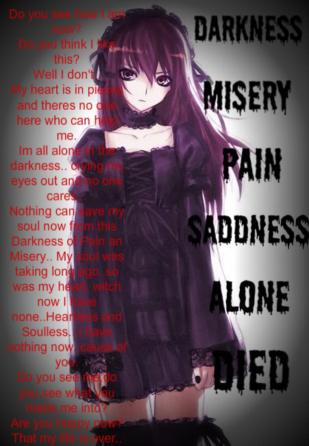 Emo Quotes About Girl: Emo Anime Quotes. QuotesGram