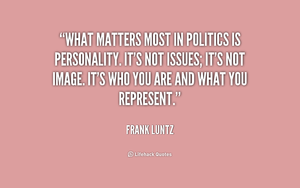 politics matters There politically apathetic people in almost any country that these people refrain from involvement in the political process is something to be regretted here is a recipe for galvanising involvement in politics in any democratic country.