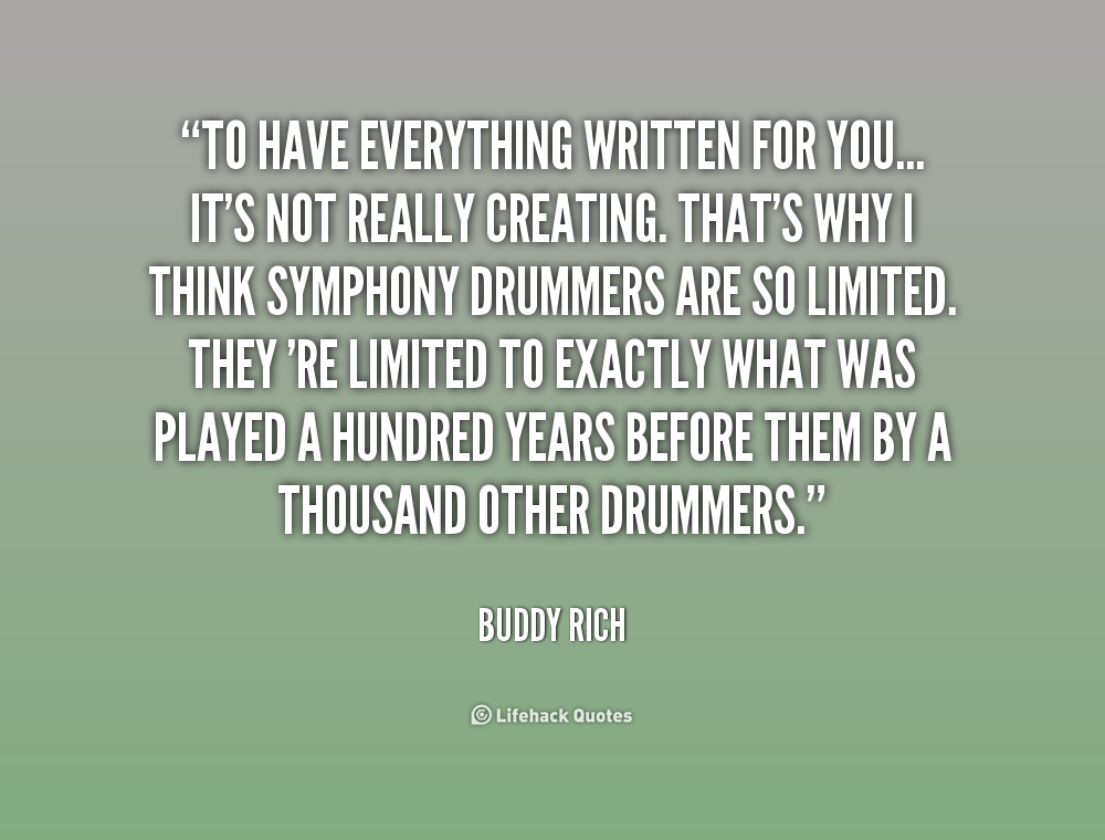 Buddy Rich Drumming Of Quotes. QuotesGram