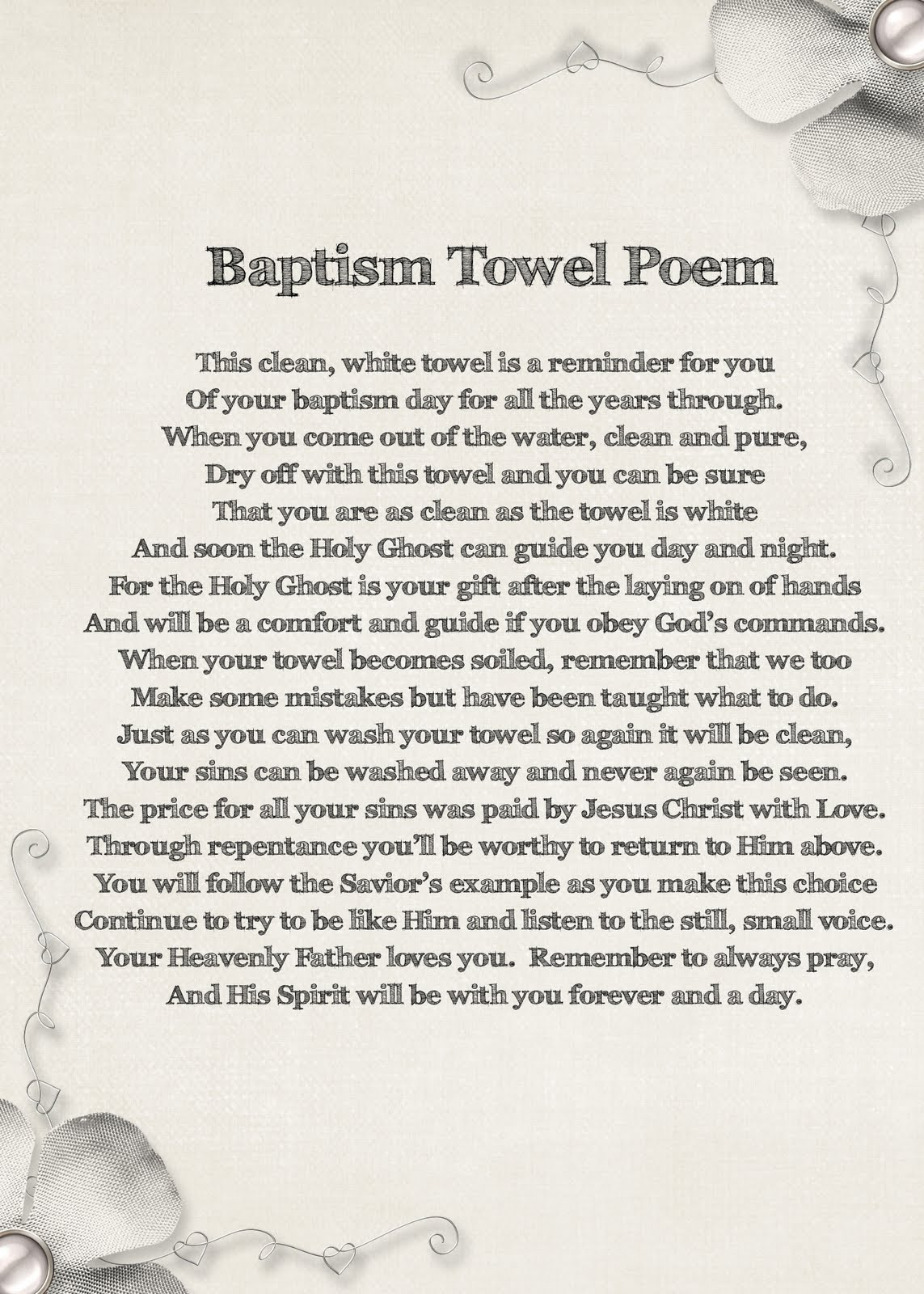 Lds Baptism Quotes Poems Quotesgram