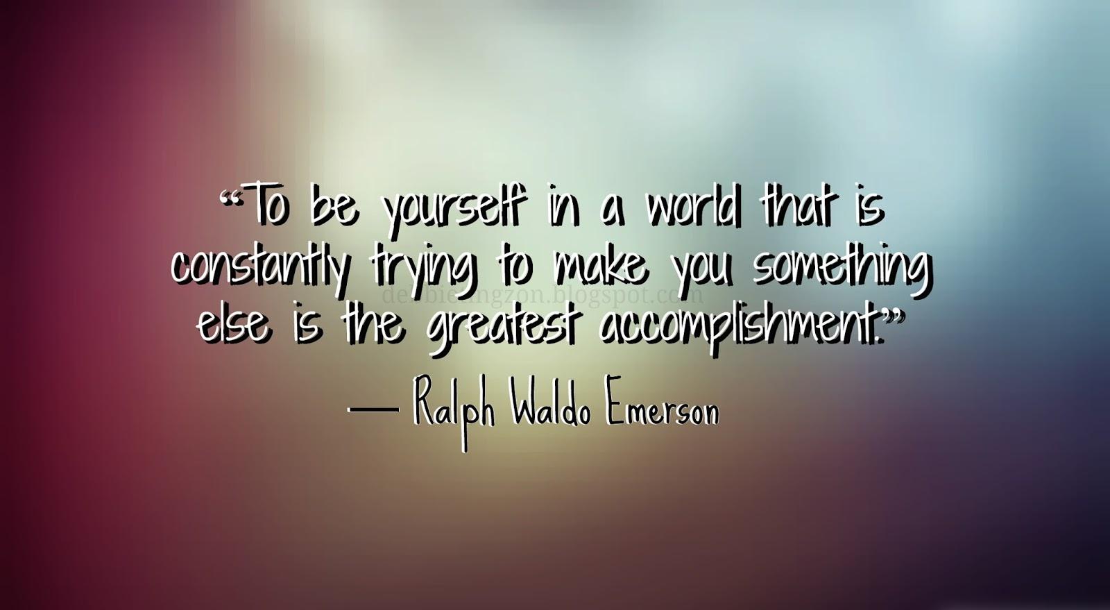 ralph waldo emerson individualism quotes  quotesgram