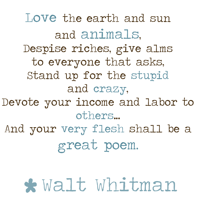 poem analysis miracles by walt whitman : quite literally, walt whitman emphasizes the fact the every inch of space is a miracle this quote is further supported by his usage of the words square yard, and foot these words are used in relation to both the interior, and the surface of the earth.