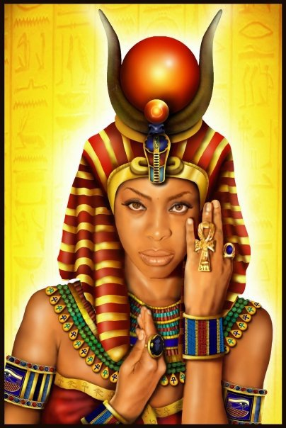 The Egyptian Goddess Of Love Hathor Digital Art |Egyptian Love God