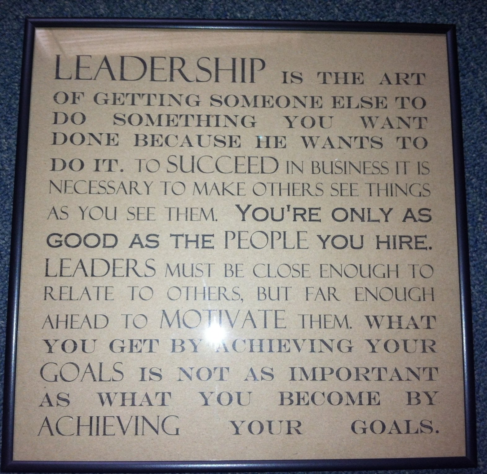 Framed Quotes On Leadership. QuotesGram