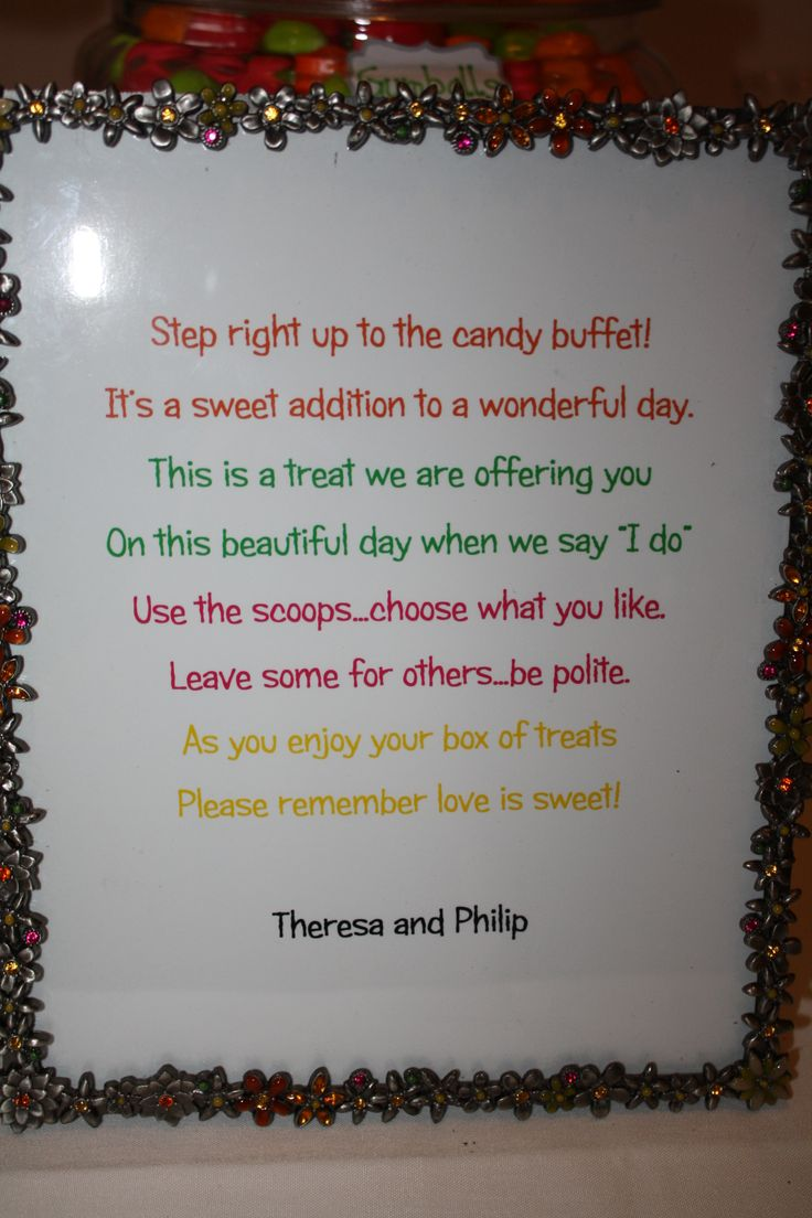 Wedding Candy Buffet Quotes Quotesgram