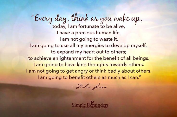 Good Morning Quotes Dalai Lama : I am fortunate quotes quotesgram
