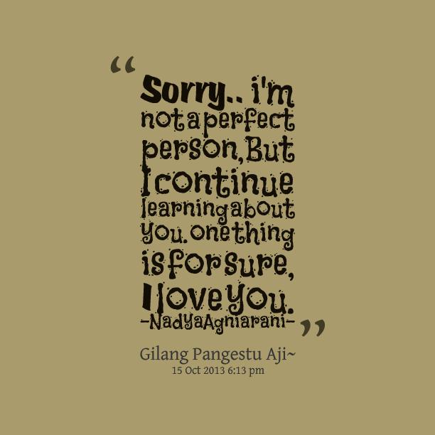 Im Sorry Im Not Perfect Quotes. QuotesGram