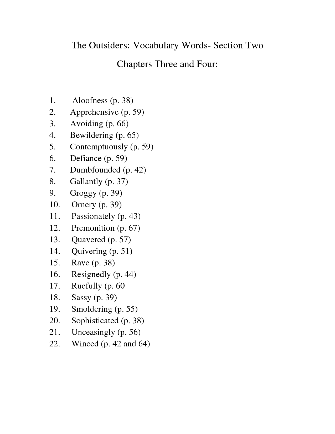 the outsiders book chapter titles in essays