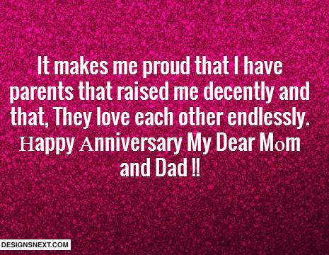 Happy Anniversary To My Parents Quotes QuotesGram