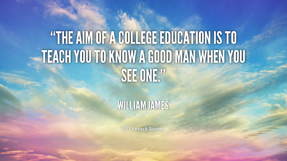 education and william james Resources about experiential learning and experiential education philosophy, theory, research, and evaluation  but also consider how the work of william james,.