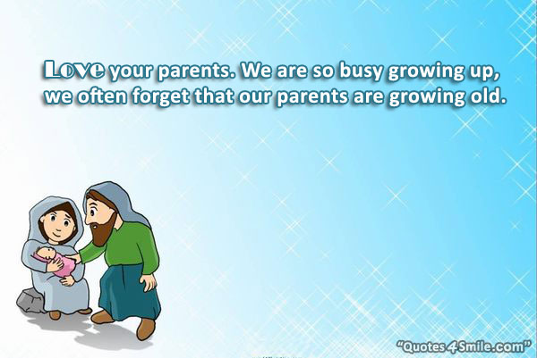 Quotes Love Parents Growing Old. QuotesGram