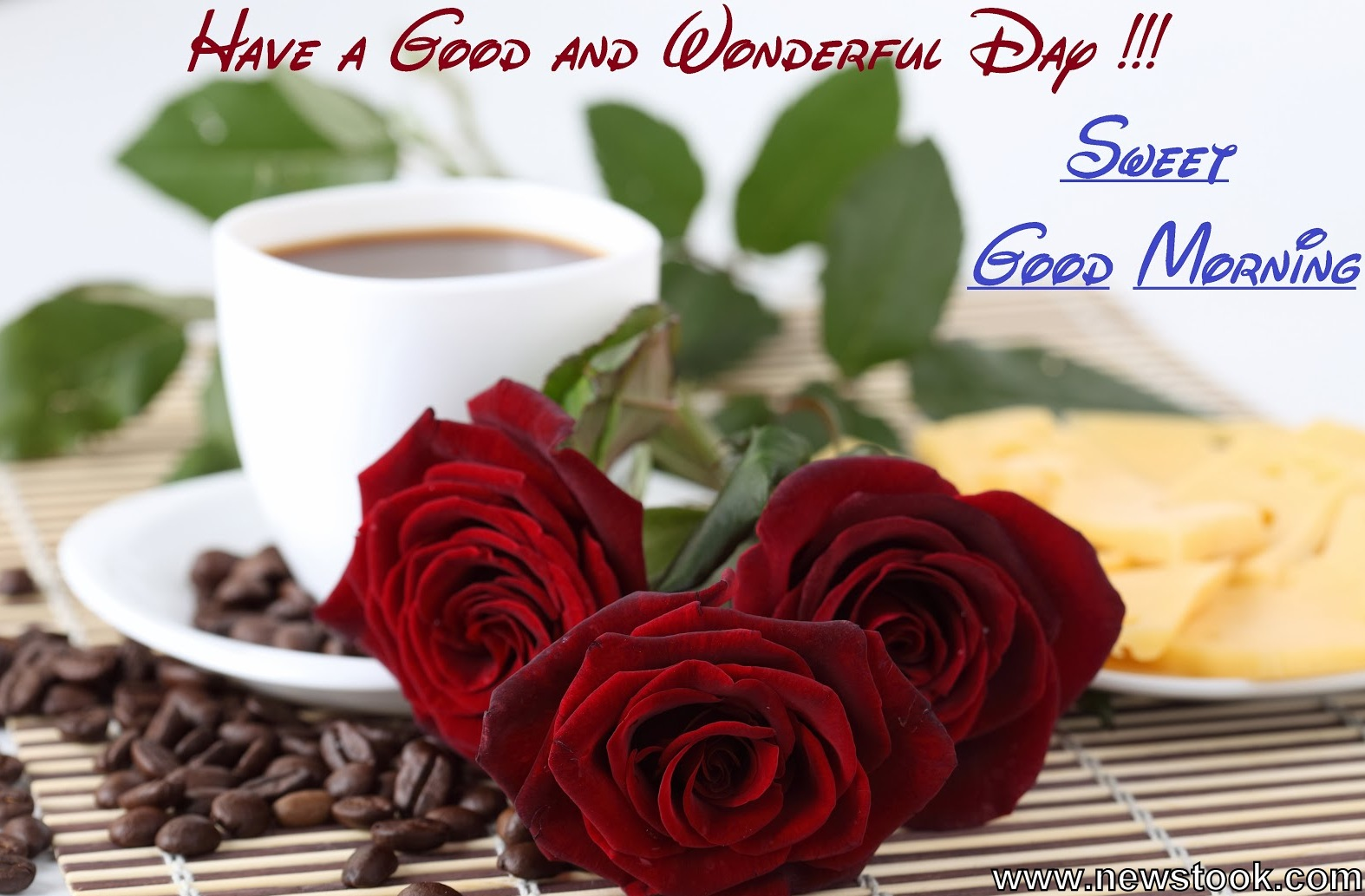 Good Morning Red Roses With Quotes