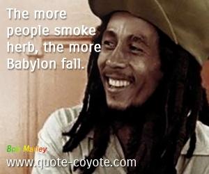 Smoking Weed Quotes Bob Marley