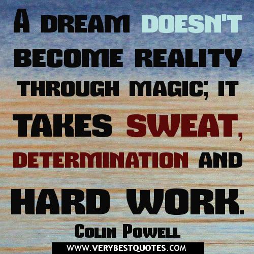 Argumentative Essay: Success Takes Hard Work