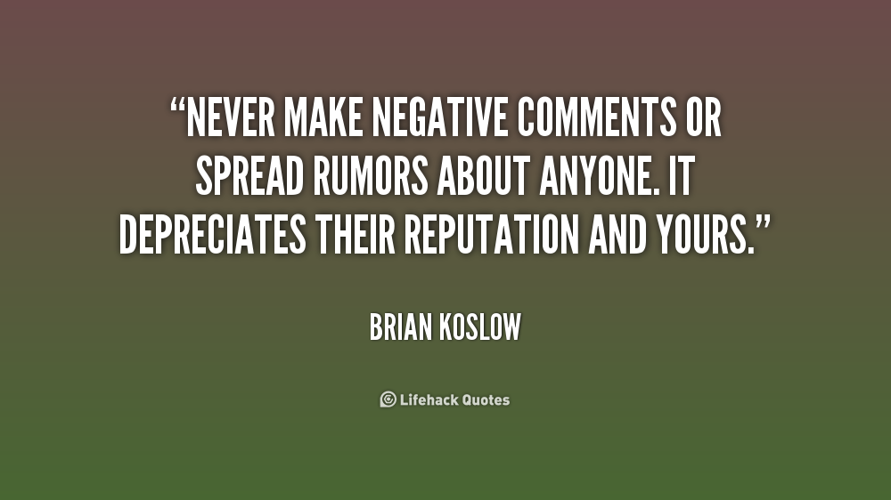 Quotes About Rumors Spreading Rumor...