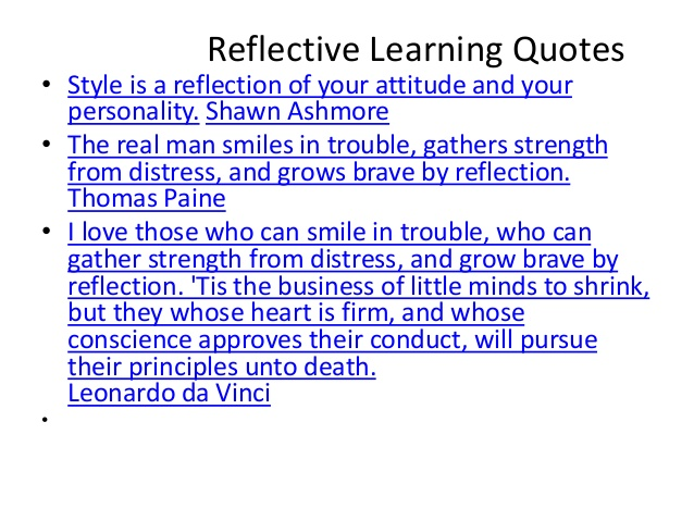 reflective essay about online learning Reflection essay (per student learning outcome) once the artifacts are selected (listed on the k-state online portfolio site), write a reflective essay.