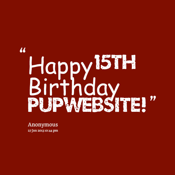 Happy 15th Birthday Quotes. QuotesGram