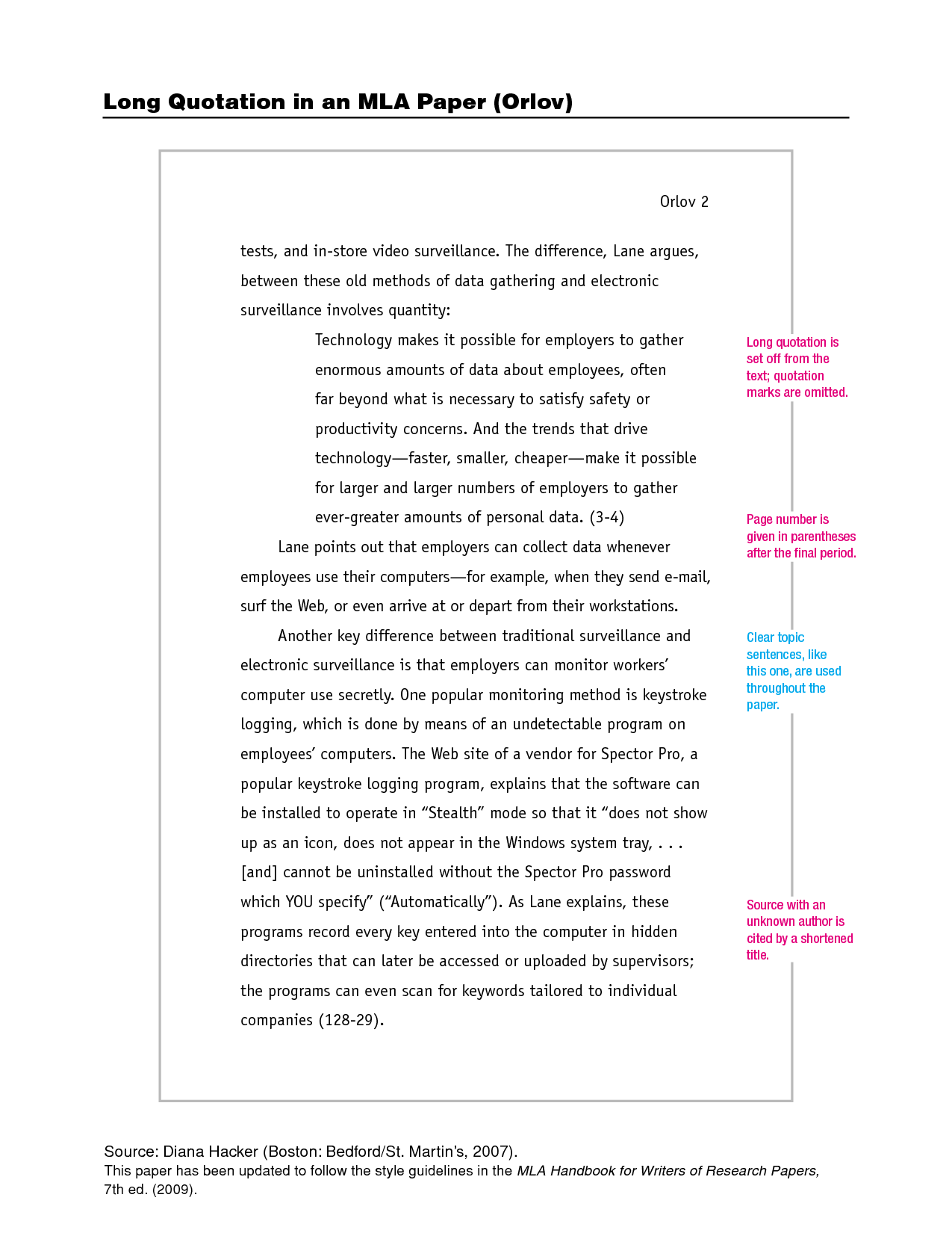 mla citation essay in book