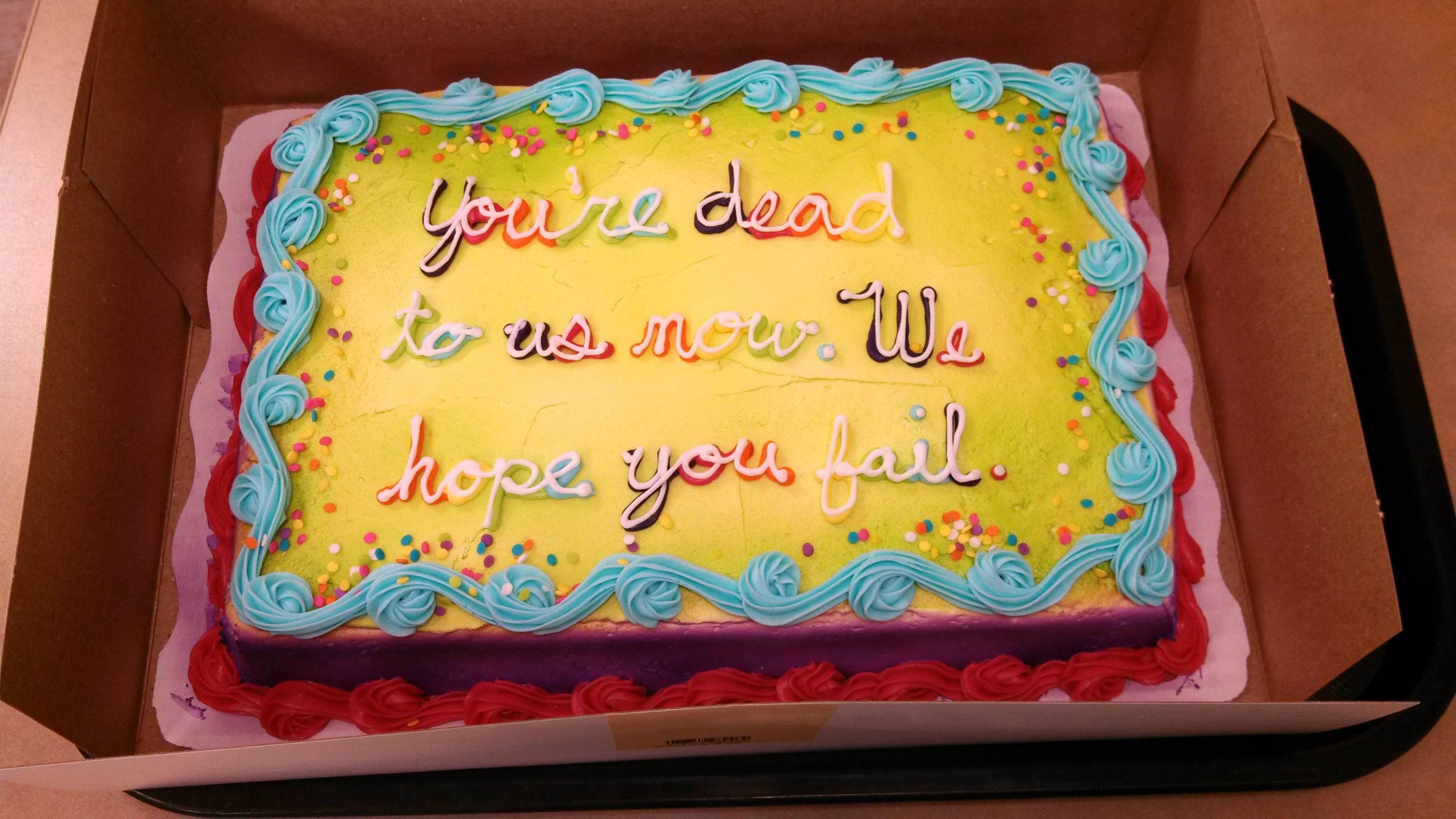 Good Saying To Put On A Going Away Cake