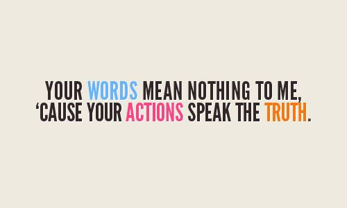 Words Mean Nothing Quotes. QuotesGram
