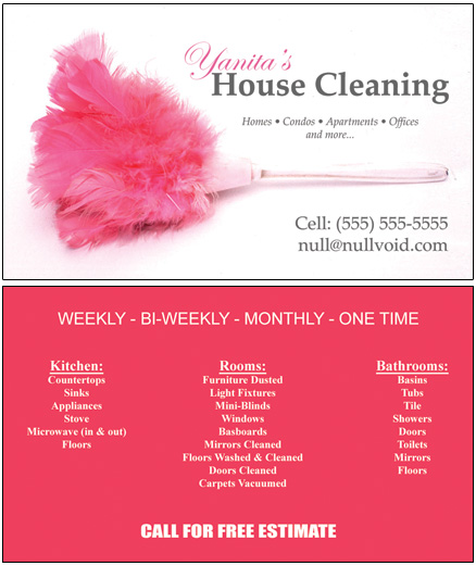 cleaning quotes for business cards  quotesgram