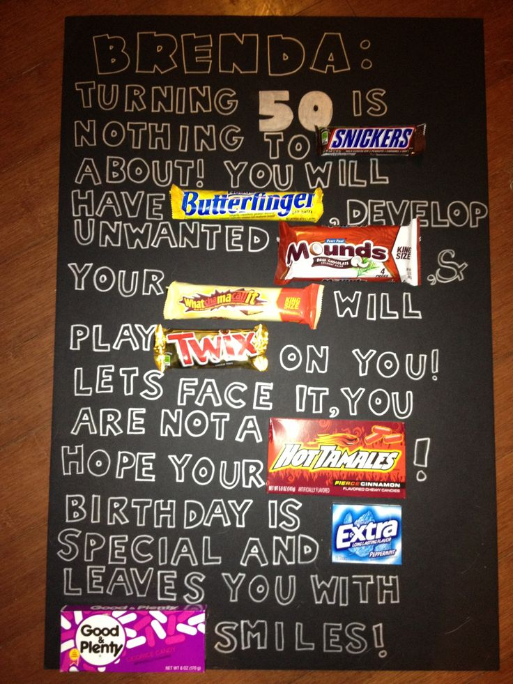 Happy Birthday Poster Ideas With Candy
