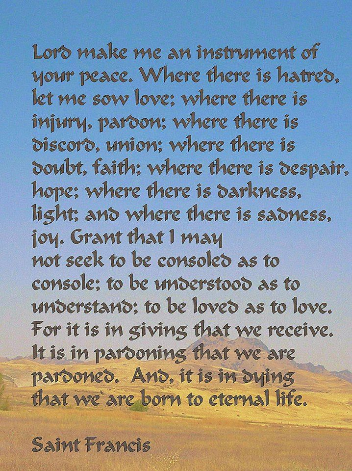 Francis Of Assisi Peace Quotes Quotesgram