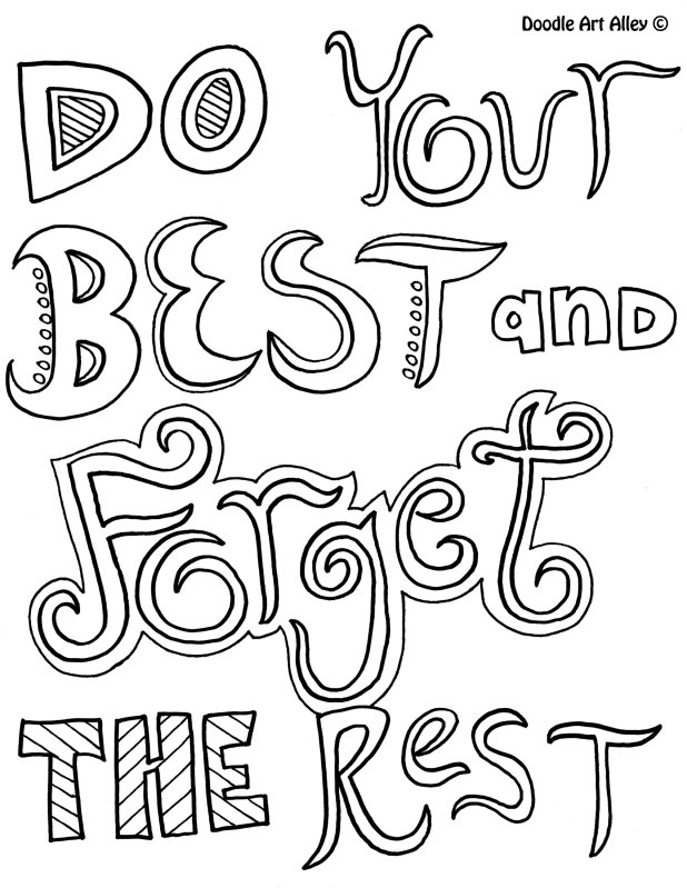 Inspirational quotes coloring pages quotesgram for Positive quotes coloring pages