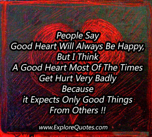 Good Heart Quotes: Good Heart Quotes. QuotesGram