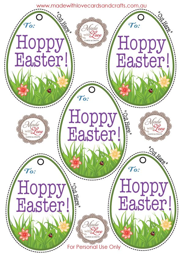 This is a graphic of Universal Free Printable Easter Gift Tags