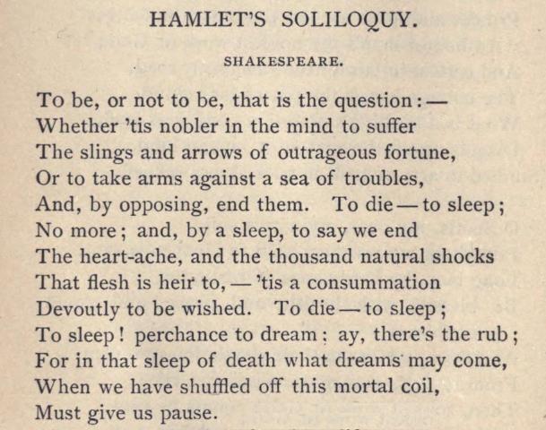 the four major soliloquies reflecting hamlet in shakespeares hamlet