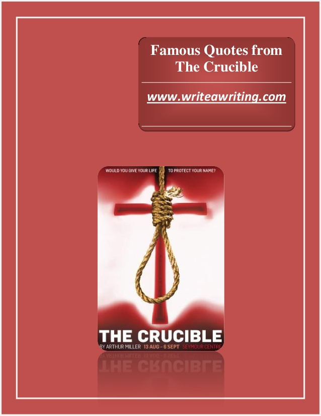 Buyfree essays on the crucible