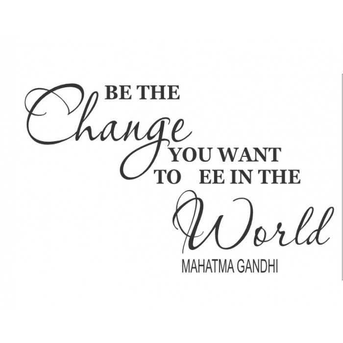 Ganhdi Quotes Of Change Quotesgram