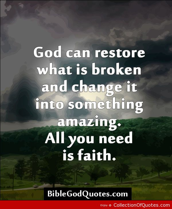 Christian Brokenness Quotes Quotesgram: Christian Quotes On Restoration. QuotesGram