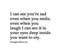 Sad Crying Eyes With Quotes